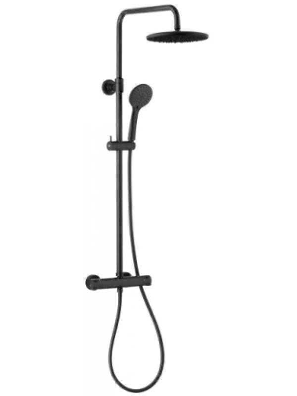 Moza black дождевальная установка душ с термостатическим смесителем
