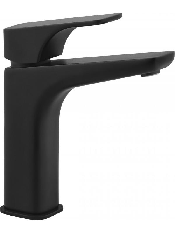 Смеситель для умывальника с повышенным корпусом с донным клапаном HiacyntNero