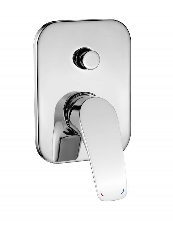 Скрытый душевой смеситель с переключателем на душ Cynia