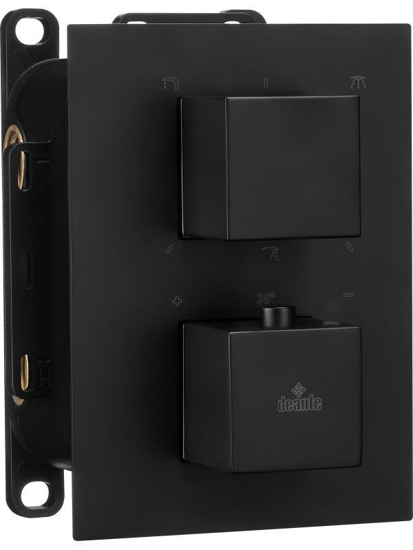Встраиваемый смеситель термостатический- квадратный Box