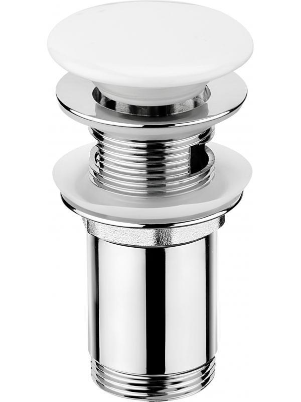 Пробка керамическая универсальная с переливом и втулкой Click-Clack